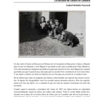 Una foto y muchos recuerdos. La escuela de Caloca en Liébana