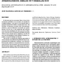 Acumulaciones biológicas en yacimientos arqueológicos: Amalda VII y Esquilleu III-IV