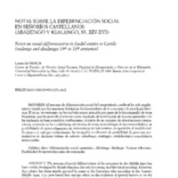 Notas sobre la diferenciación social en señoríos castellanos (abadengo y realengo, ss.XIV-XVI)