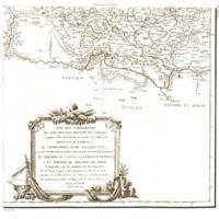 Mapa que comprehende el Partido del Bastón de Laredo, y quatro Villas de la Costa, con todos sus Valles, y la provincia de Liébana, el corregimiento de Villarcayo...
