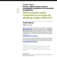 Diferenciación social campesina en concejos de abadengo (siglos XIII-XVI)