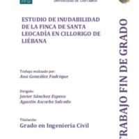 Estudio de inundabilidad de la finca de Santa Leocadia en Cillorigo de Líébana
