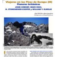 Viajeros en los Picos de Europa (III). Pioneros británicos. John Ormsby,  Mars Ross, H. Stonehewer-Cooper y William T. Elmslie