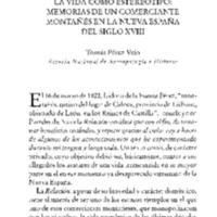 La vida como estereotipo: memorias de un comerciante montañés en la Nueva España del siglo XVIII
